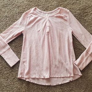 Anthropologie Waffle Long Sleeve Size Small